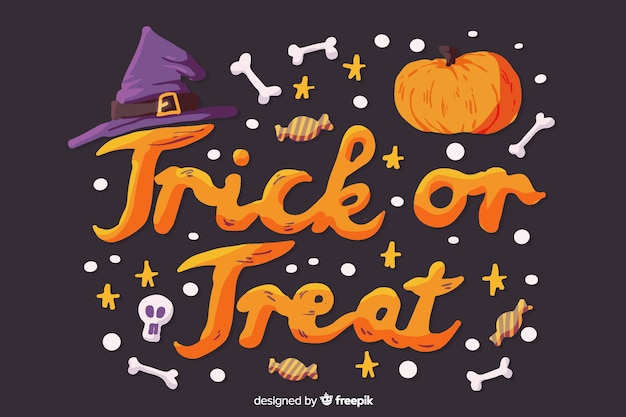 Halloween trick or treat concept Free Vector