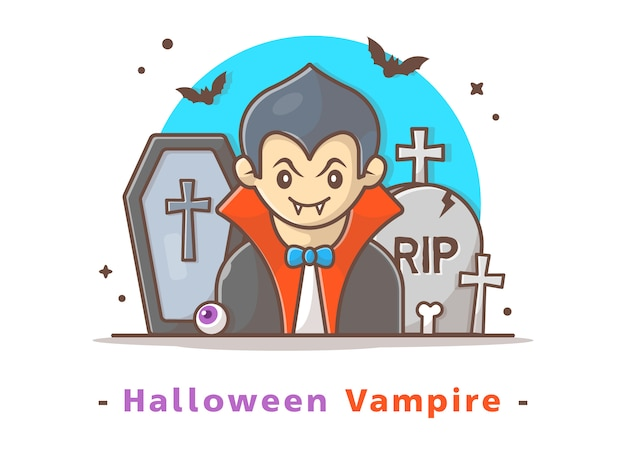 Halloween vampire Premium Vector