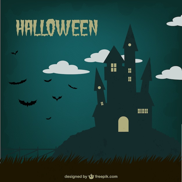 Halloween vintage background