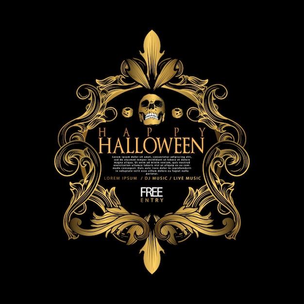Halloween vintage luxury Premiumベクター