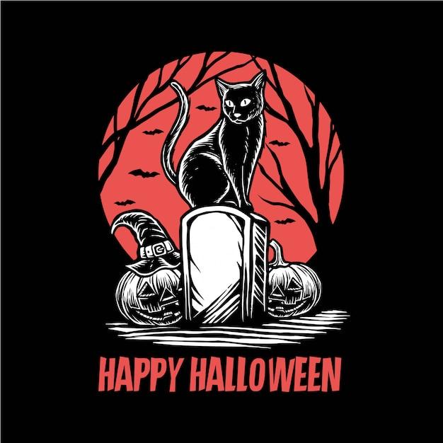 Счастливый hallowen Premium векторы