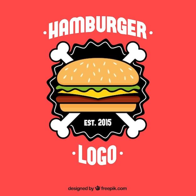 Hamburger logo Premium Vector