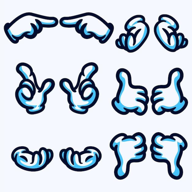 Рука характер череп животные Premium векторы