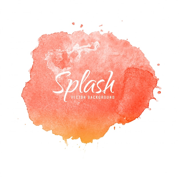 Hand draw colorful splash watercolor background Free Vector