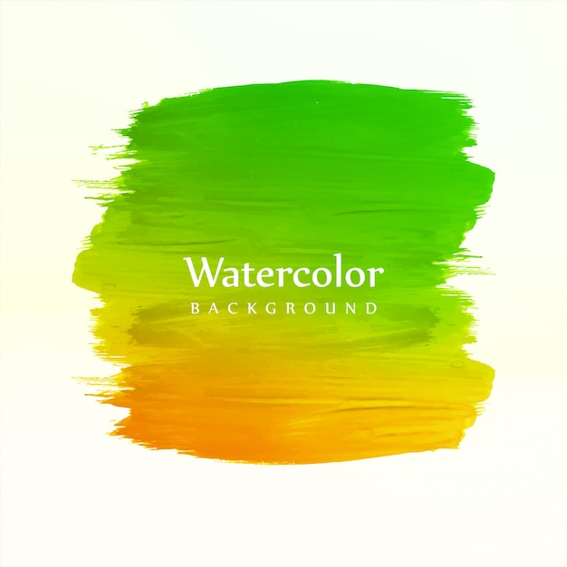 Hand draw colorful watercolor stroke background Free Vector