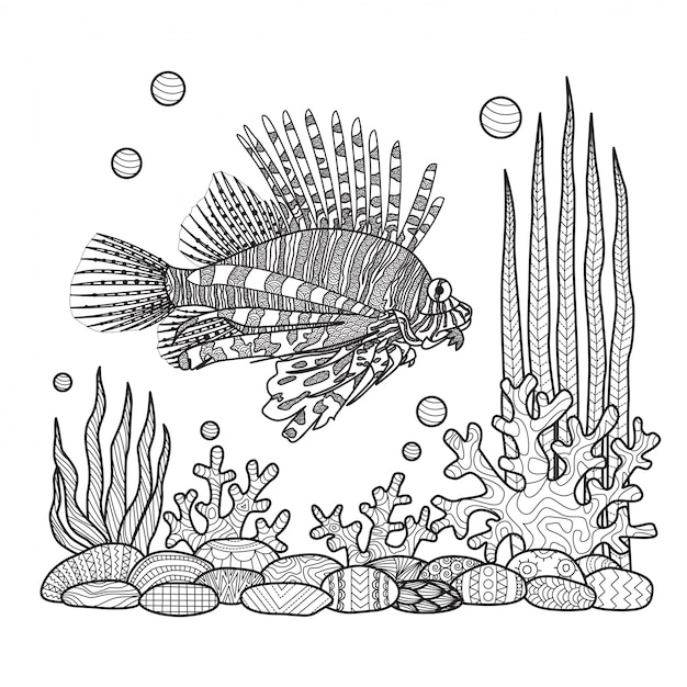 Hand Draw Fish Background Vector Free Download