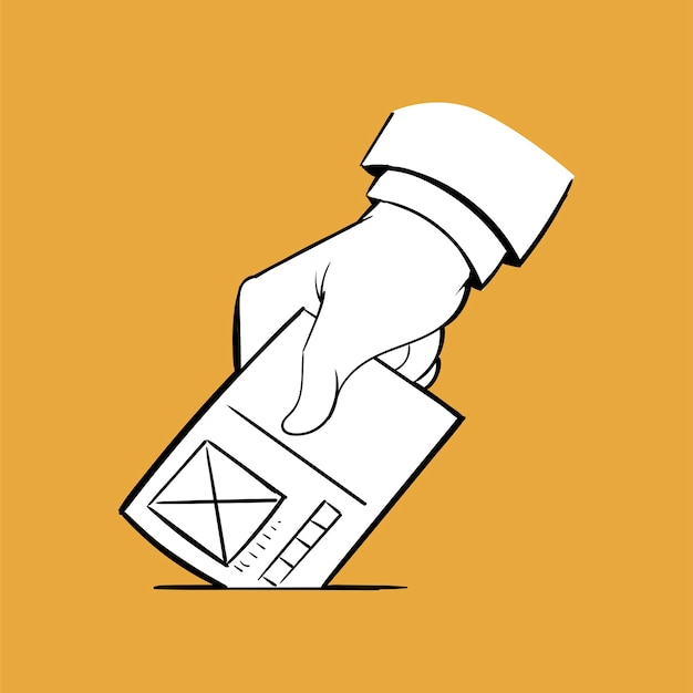 Hand drawing illustration of election concept Free Vector