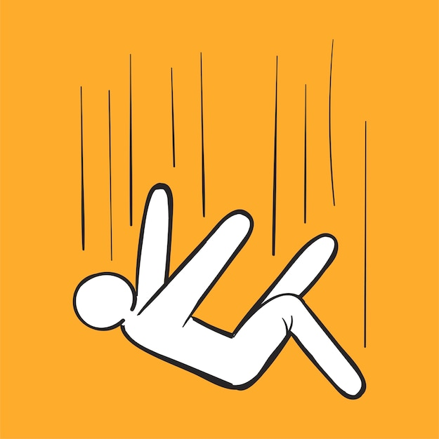 Hand drawing illustration of fail concept Free Vector