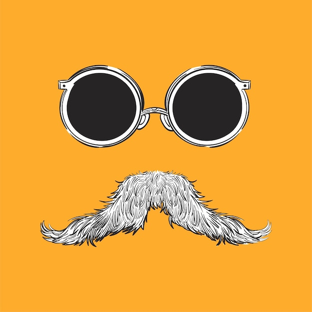 Hand drawing illustration of hipster style concept Free Vector