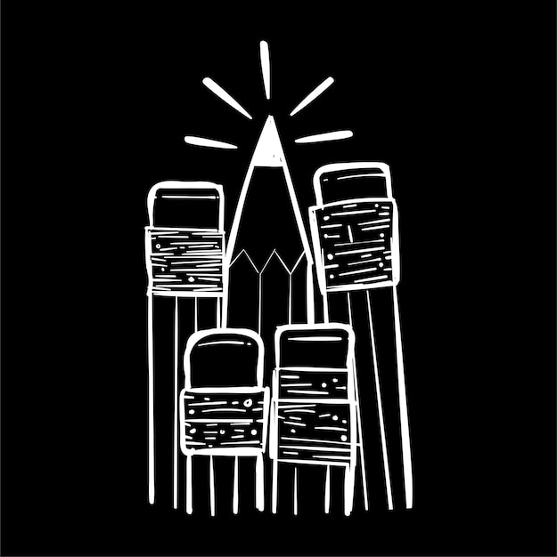 Hand drawing illustration of individuality concept Premium Vector