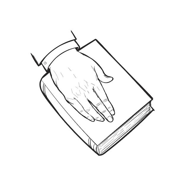 Hand drawing illustration of justice concept Free Vector