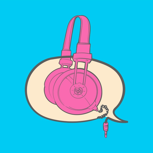 Hand drawing illustration of music entertainment concept Free Vector