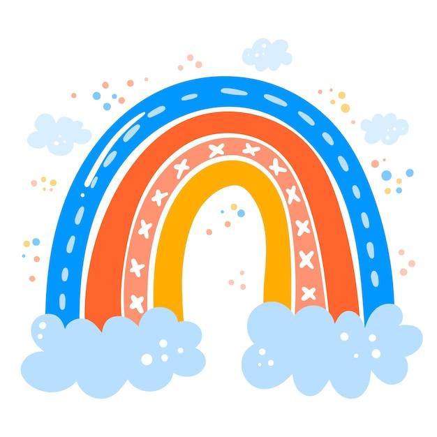 Чертеж радуги Бесплатные векторы