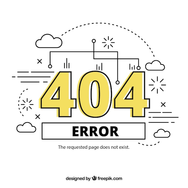 Hand drawn 404 error Free Vector
