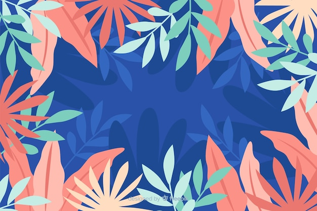 Hand drawn abstract floral background Free Vector