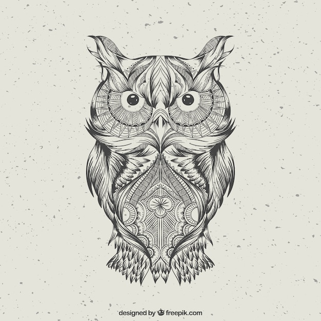 hand drawn abstract owl Premium Vector