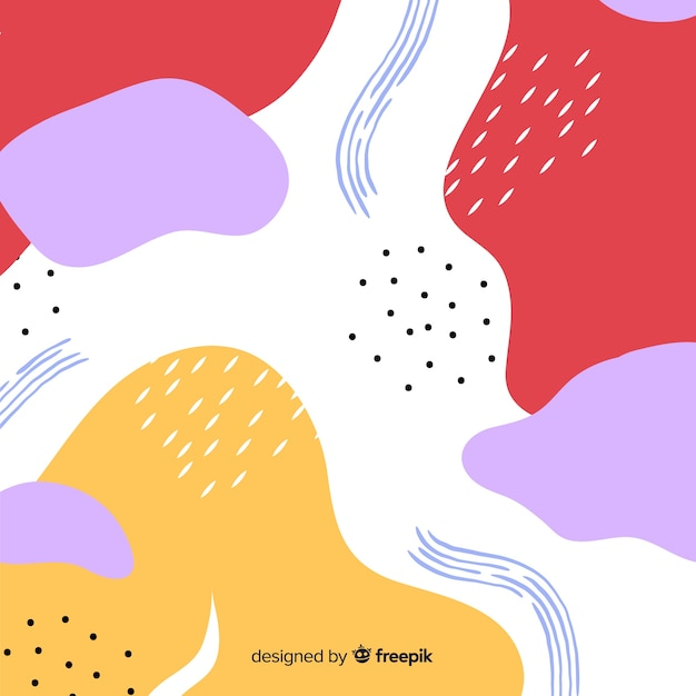 Hand drawn abstract shape background Free Vector