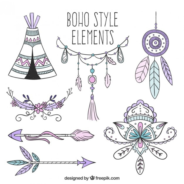free vector green boho -#main