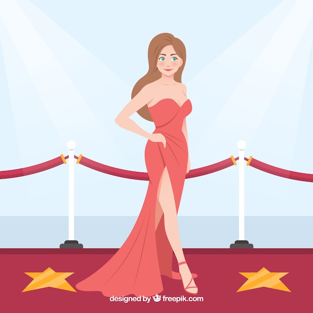 Hand drawn actors background Free Vector