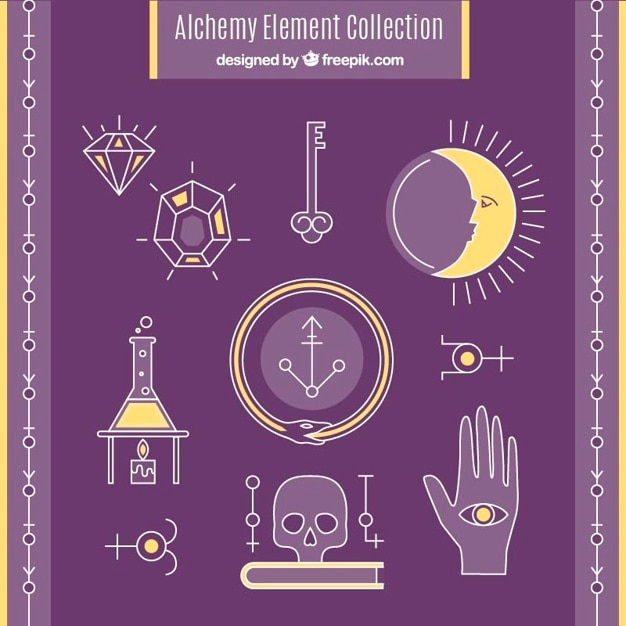 Hand Drawn Alchemy Signs And Symbols Pack Vector Premium Download