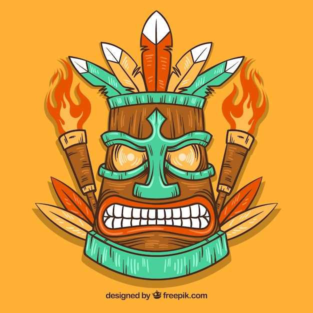 Hand drawn angry tiki mask with torches vector free download hand drawn angry tiki mask with torches free vector stopboris Gallery