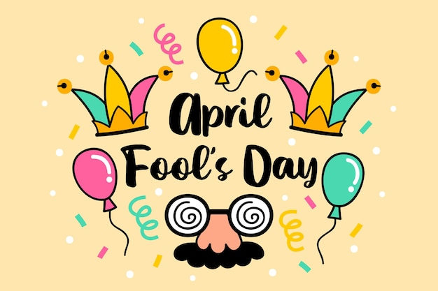 Hand drawn april fools day concept Free Vector