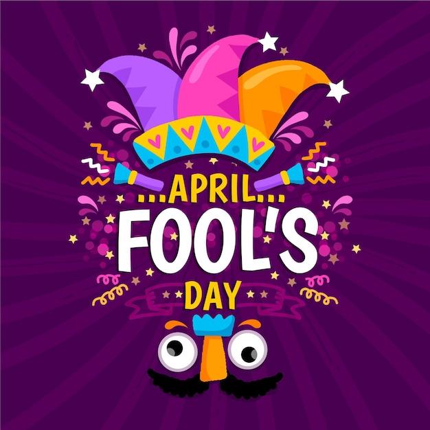 Hand-drawn april fools' day illustration Free Vector