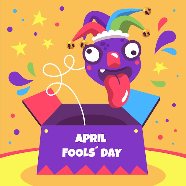Hand-drawn april fools' day illustration Free Vector
