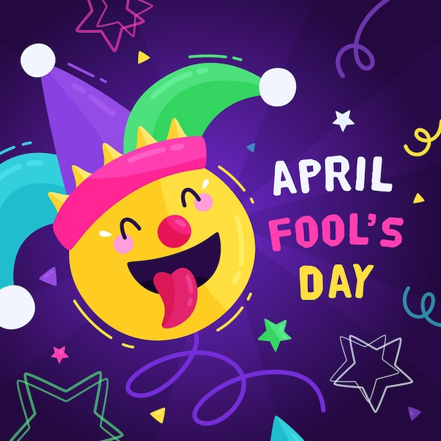 Hand drawn april fools' day illustration Free Vector