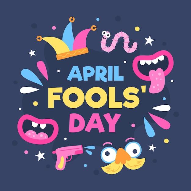 Hand drawn april fools' day illustration Free Vector