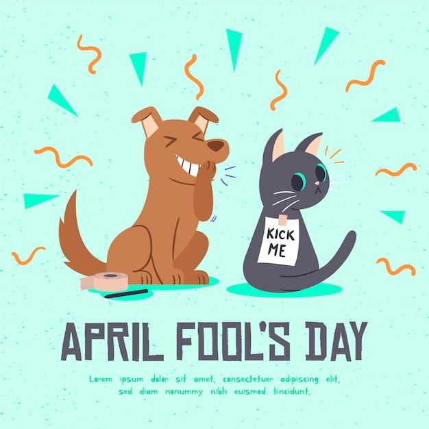 Hand drawn april fools day Free Vector