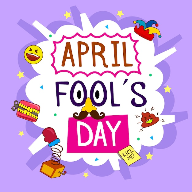 Hand drawn april fools day Free Vector