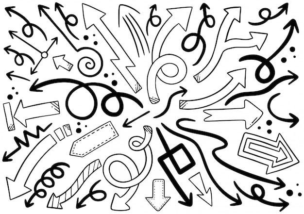 Hand drawn arrows Premium Vector