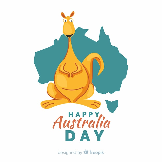 Hand drawn australia day background Free Vector
