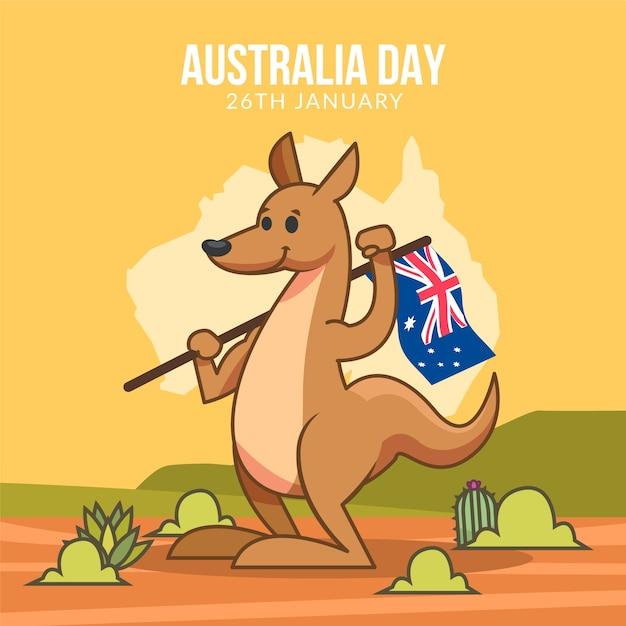 Ручной обращается день австралии Бесплатные векторы
