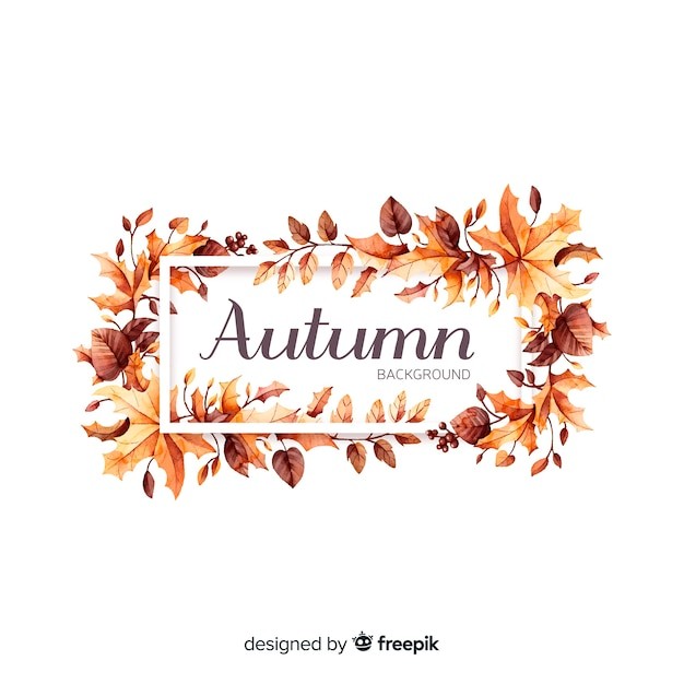 Hand drawn autumn leaves background Free Vector