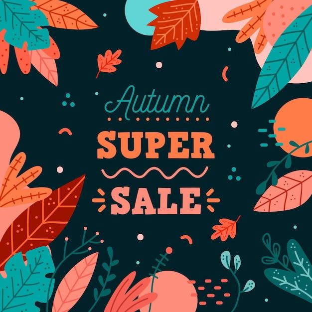 Hand drawn autumn sale concept Free Vector