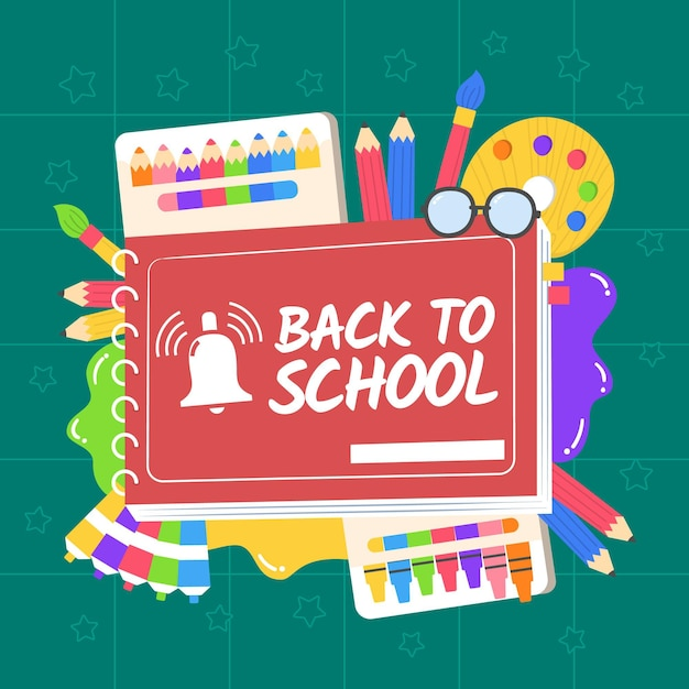 Hand-drawn back to school wallpaper Free Vector