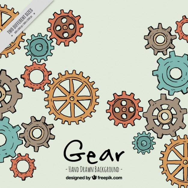 new tech gear background with colorful gears vector free 22003