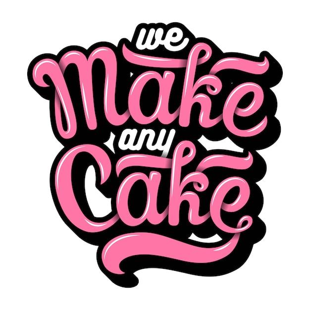 Hand drawn bakery lettering Premium Vector