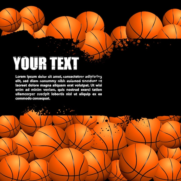 Hand drawn basketball background Free Vector