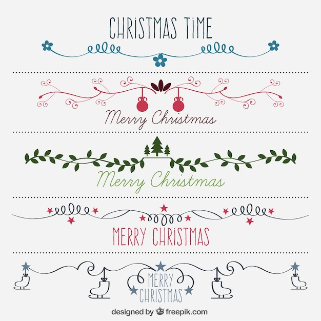 Christmas tree decorations blue and green - Christmas Borders Vectors Photos And Psd Files Free Download