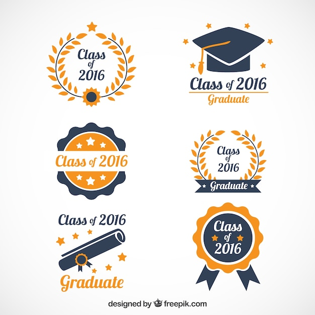 1000 Images About Academic Options For My Phd On: Hand Drawn Beautiful Graduation Logos Vector
