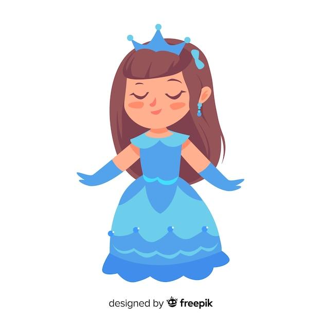 Hand drawn beautiful princess illustration Free Vector