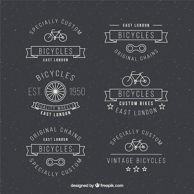 دست کشیده دوچرخه مدالها در طراحی سبک قدیمی