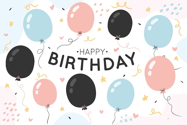 Hand drawn birthday background Premium Vector
