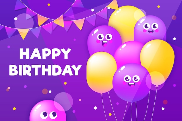 Hand drawn birthday background Free Vector