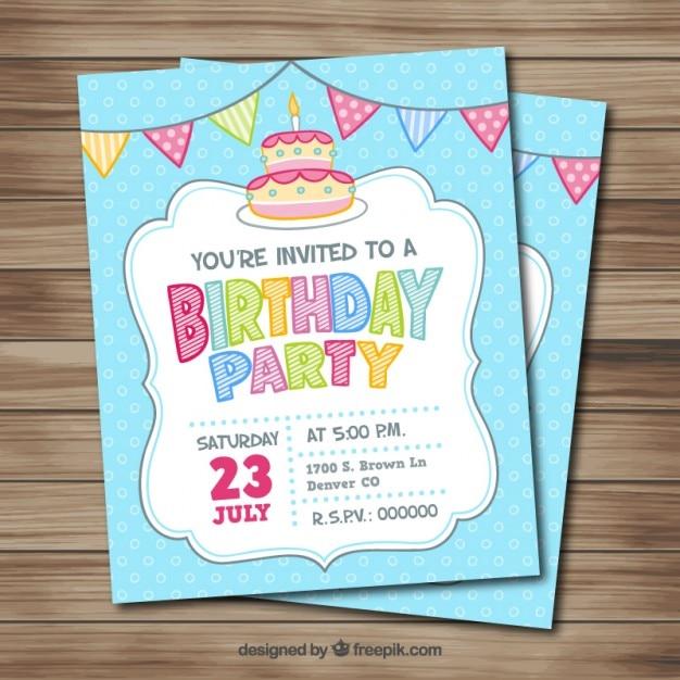 Hand drawn birthday card vector premium download hand drawn birthday card premium vector bookmarktalkfo Gallery