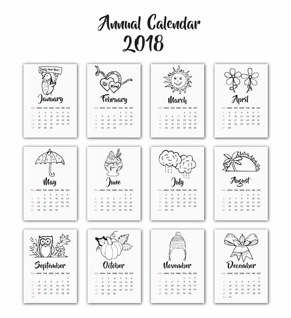 seasonal calendar templates