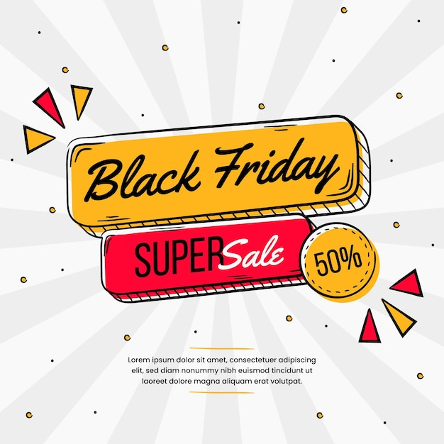 Hand drawn black friday concept Free Vector
